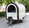 White + Brown Color 220*160*210 Street Vending Food Cart Mobile Food Trucks for Sale