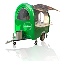 KN-220B Green Color Can Be Customized Food Trailer Cart Truck For Snack on Street