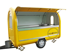 The Best Selling Long 280cm Mobile Food Carts Trailer Ice Cream Truck Snack Food Carts Customized Colors with Free Shipping