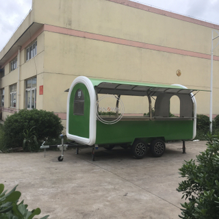 KN-400B Fry Ice Cream Roll Food Vans China Bicycle Factory Mobile Fryer Food Cart