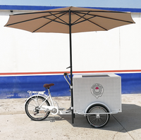 Customized 3 Wheel Cargo Bike Electric Tricycle for Sale Coffee Vending Cart with CE ISO Certification