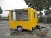 KN-FS250 Easy Move Square 2.5m Fast Food Carts for Sale
