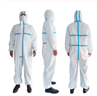 Certification Disposable Protective Coverall Protection Clothing Chemical Safety Suit for Hospital ICU