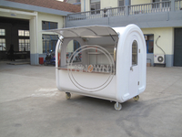 220D Best Mobile Food Car with Wheels Food Trailer Kiosk Food Cart with Wheels