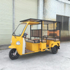 Commercial 6-7 Passengers Electric Solar Tricycle/cart/truck with Three Wheels Tuk Tuks