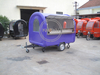 KN-250B Mobile Food Cart Catering Trailer Purple for Ice Cream Hot Dog Food Trailer