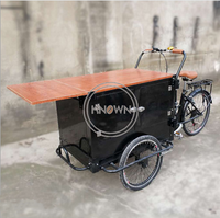 Pedal Electric Cargo Tricycle with CE Certification Adult Cargo Bike for Vending Coffee Snacks