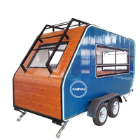Mobile Fast Food Vending Trolley Cart Ice Cream Coffee Pizza Trailer Street Hot Dog Kiosk Van in USA