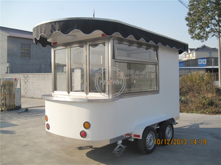KN-320 Electric Street Snack Ice Cream Cart Hot Dog Trailer Food Truck for Sale