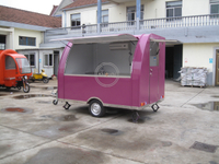 KN-290B 2.9m Length Red Mobile Fast Food Trailer Ice Cream Vending Street Mobile Cart Price