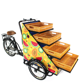 3 Wheel Adult Tricycle Pedal And Electric Cargo Bike Vending Food Cart for Sale Vegetables Fruits on The Street Wholesale
