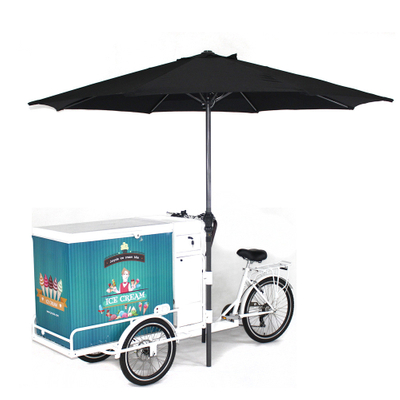 Best Adult Tricycle Mobile Electric Ice Cream Cargo Bike With Freezer for Sell Cold Drinks Such As Cola Beer