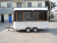 KN-420 Moving Food Cart Mobile Juice Bar Mobile Hotdog Food Cart