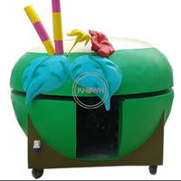 Fruit Shape Coconut Fast Food Kiosk Hot Dog Cart Ice Cream Popsicle Juice Truck Car for Sale