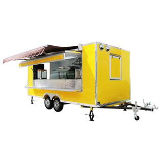 Europe Standard Black Color Food Trucks/Fast Food Vending Carts Catering Burger Trailer Mobile Food Cart