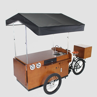 Classic Electric Cargo Bike Adult Tricycle Europe Mobile Food Cart for Sale Coffee Fruit Beer on The Street Display Kiosk