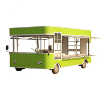 Customize design support mobile fast food truck with electric energy for sale