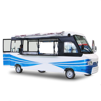 Multifunction 5.6m length electric bus food truck mobile food cart for sale