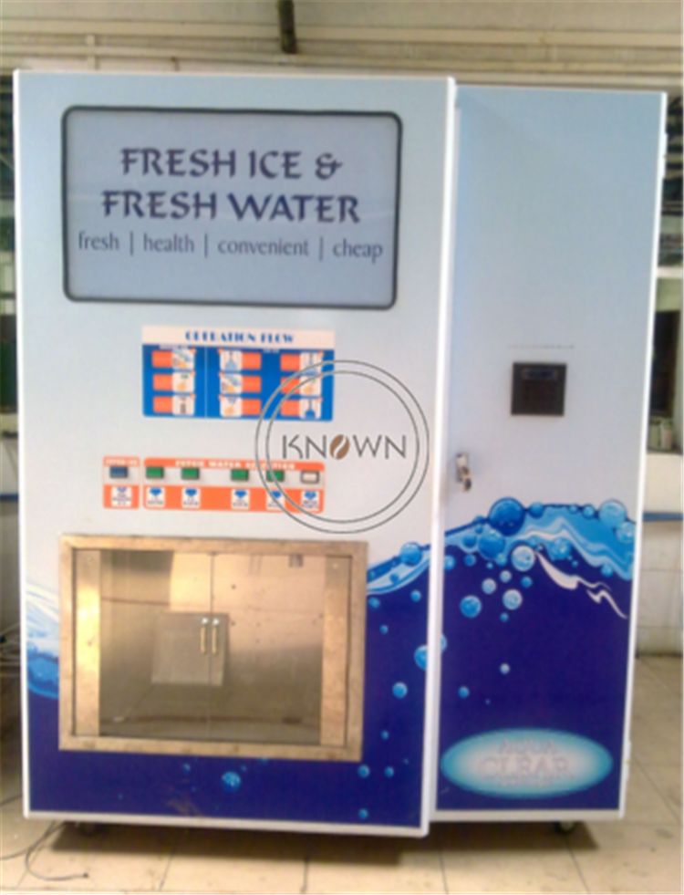 280kg/day Automatic Ice Vending Machine with Coin Acceptor And IC Card